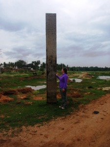 Sally in a dried up tank (historically part of the cascading tank irrigation systems) outside Bangalore, India.